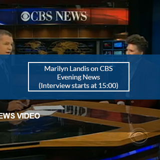 MARILYN LANDIS ON CBS EVENING NEWS with mins